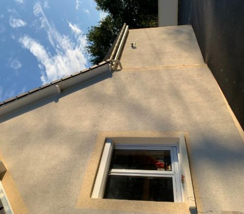 Rénovation de façade d'une maison